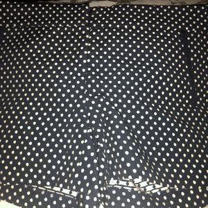 Cynthia Rowley Navy and White Polka Dot Shorts - 6